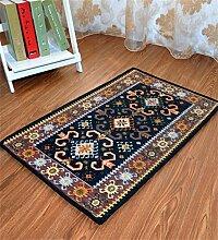 WENZHE Europäische Chenille-rechteckige Hauptboden-Tür-Matten-Teppiche Rutschfeste Fuß-Auflage Bereich Teppich ( Farbe : C , größe : 50*80cm )