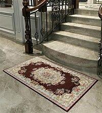 WENZHE Europäische Chenille-rechteckige Hauptboden-Tür-Matten-Teppiche Rutschfeste Fuß-Auflage Bereich Teppich ( Farbe : P , größe : 40*60cm )