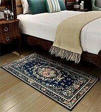 WENZHE Europäische Chenille-rechteckige Hauptboden-Tür-Matten-Teppiche Rutschfeste Fuß-Auflage Bereich Teppich ( Farbe : I , größe : 60*90cm )