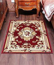 WENZHE European-style Wohnzimmer Türmatten Schlafzimmer Bedside Wasserdicht Schlüsselloch Teppich Bereich Teppich ( Farbe : A , größe : 80*100CM )