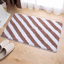 WENZHE Fußmatte Schlafzimmer Teppich Badezimmer Wasserabsorption Anti-Rutsch-Matte Wohnzimmer Staubdicht Teppich Bereich Teppich ( Farbe : C , größe : 50x80cm )