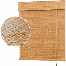 WENZHE Jalousien Bambusrollo Fenster Sichtschutz