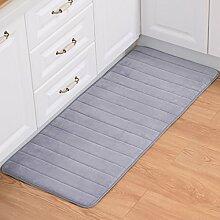 WENZHE Küche Teppich Küchenmatten Emulsion Rutschfest Wasseraufnahme Ölbeständig Waschmaschinenfest, Verdickung 15mm, 5 Spezifikationen ( Farbe : Grau , größe : 50*120cm )