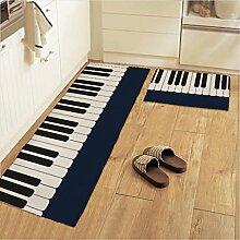WENZHE Küche Teppich Küchenmatten Fußabtreter Gestreiftes Klavier Wasseraufnahme Ölbeständig Rutschfest Waschmaschinenfest, 3 Spezifikationen ( größe : 45*135cm )
