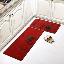 WENZHE Küche Teppich Küchenmatten Fußabtreter