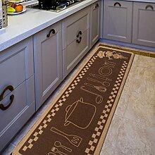 WENZHE Küche Teppich Küchenmatten Kreativ Wasseraufnahme Ölbeständig Rutschfest Waschmaschinenfest, 4 Größen ( Farbe : F , größe : 45*180m )
