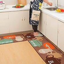WENZHE Küche Teppich Küchenmatten Latex Rutschfest Wasseraufnahme Ölbeständig Waschmaschinenfest 2 Stück Installiert ( Farbe : A , größe : 50*150 cm )