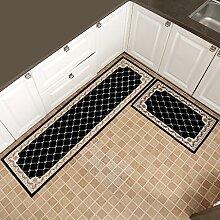 WENZHE Küche Teppich Küchenmatten Rutschfest Wasseraufnahme Ölbeständig Waschmaschinenfest 2 Stück Installiert 7 Arten Von Spezifikationen ( Farbe : Blau , größe : 50*80+50*180cm )