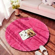 WENZHE Rund Teppich Mats, Kaffeetisch Schlafzimmer Teppich, Kissen Hocker, runden Raum Teppich, (acht Arten von Farbe Optional) Bereich Teppich ( Farbe : C , größe : 4.5cm-1.2m )