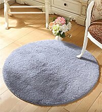 WENZHE Runde dicke Seide Wolle Fitness Yoga Matten Kissen Computer Stuhl Kissen Wohnzimmer Schlafzimmer Bedside Matten Bereich Teppich ( Farbe : D , größe : 100cm )
