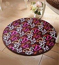 WENZHE Rundschreiben Teppich Wohnzimmer Anti-Rutsch-Absorbent Pad Schwenkkissen Schlafzimmer Bedside Staubdicht Teppich Bereich Teppich ( Farbe : B , größe : 140*140cm )