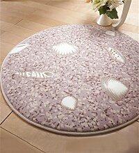 WENZHE Rundschreiben Teppich Wohnzimmer Anti-Rutsch-Absorbent Pad Schwenkkissen Schlafzimmer Bedside Staubdicht Teppich Bereich Teppich ( Farbe : C , größe : 100*100cm )