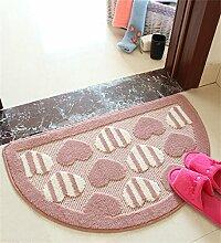 WENZHE Schöne halbkreisförmige Teppich-Türmatten Home Floor Matten Schlafzimmer Bad Pad Bereich Teppich ( größe : 48*78cm )
