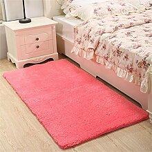 WENZHE Verdickung Waschbarer Teppich Schlafzimmer Bedside Teppich Doormat Bay Fenster Teppich Küche Eingang Badezimmer Anti-Rutsch-Staubdicht Teppich Bereich Teppich ( Farbe : A , größe : 60×160cm )