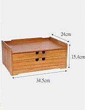 WENZHEshouna Massivholz Bürobedarf Aufbewahrungsbox Schublade Finishing Box Aufbewahrungsbox ( größe : L )