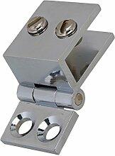 WEONE 90 Grad Silber Glastür aus Metall Dusche Badezimmer-Tür-Hebelspanner