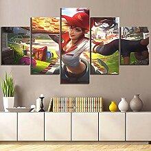 WEPAIN Hd Drucke Dekoration Bilder 5 Panel Spiel