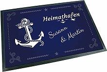 Werbetreff Gera Fußmatte Anker Heimathafen mit