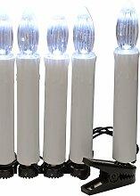 WeRChristmas 10 Warm-weiß LED Kerzen Lichter