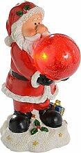 WeRChristmas 25 cm, Weihnachtsmann, Weihnachten Dekoration Solar Wegeleuchte