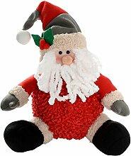 WeRChristmas 30 cm Sitzend, Motiv Weihnachtsmann, Weihnachtsdeko