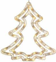 WeRChristmas 35LED Weihnachtsbaum Silhouette,