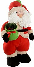 WeRChristmas 43 cm, Stehender Weihnachtsmann, Weihnachtsdeko, Mit Geschenk Tüte