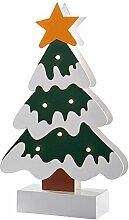 WeRChristmas bunt Baum Tisch Weihnachten Dekoration, Holz, 26cm–Mehrfarbig