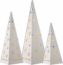 WeRChristmas Holzpyramide Weihnachtsbäume mit