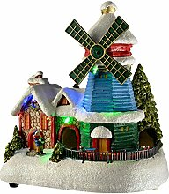 WeRChristmas LED Christmas Windmühle House mit