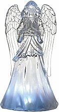 WeRChristmas LED Wishing Angel Weihnachten Dekoration, Acryl, mehrfarbig, 34cm