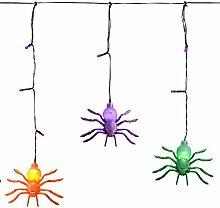 WeRChristmas Lichterkette Spinnen, Eiszapfen mit