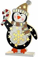 WeRChristmas Pinguin Weihnachten Dekoration, mehrfarbig, 30cm