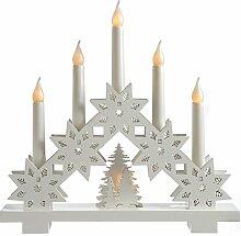 WeRChristmas Schneeflocke Design 5warm Kerze