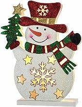 WeRChristmas Schneemann Weihnachten Dekoration, mehrfarbig, 30cm