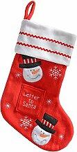 WeRChristmas Schneemann Weihnachtsstrumpf Dekoration, Stoff, rot/mehrfarbig, 48cm