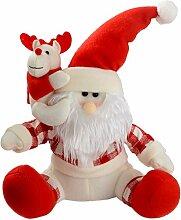 WeRChristmas sitzend 30 cm, Weihnachtsmann, Santa