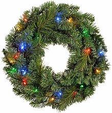 WeRChristmas Türkranz, Weihnachtsdeko, beleuchtet