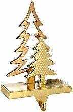 WeRChristmas vergoldet Weihnachten Baum Strumpf Halter Dekoration, Metall, 19cm