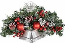 WeRChristmas weihnachtliche Wanddekoration, 30cm, reifbedeckt mit zwei Glocken