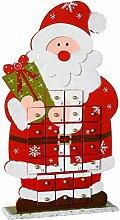 WeRChristmas Weihnachtsdekoration Holz Santa