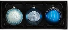 WeRChristmas Weihnachtskugeln aus Glas, Antarktis,