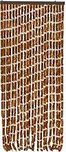 Werkapro Vorhang Chenille braun weiß 120x220cm