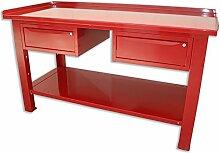 Werkbank 1,5mt. Tisch aus Stahl + 2Schubladen Serie Industrie Sogi X3–10_ D