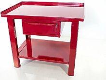 Werkbank 1mt. Mit Tischplatte Aus Stahl + Schublade Serie schwere Work Steel Sogi X3–09_ A