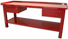 Werkbank 2MT. Tisch aus Stahl + 2Schubladen Serie Industrie Sogi X3–11_ B