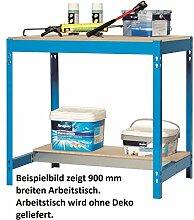Werkbank - Arbeitstisch, blau 1200 mm