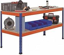 Werkbank Arbeitstisch Packtisch - 1.841 x 621 x 990 mm