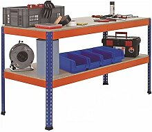 Werkbank Arbeitstisch Packtisch - 2.450 x 621 x 990 mm