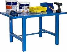 Werkbank BT-6 Metallic 1500 X 730 Blau, Maße: 83 x 150 x 73 cm (H x B x T), Traglast: 800 kg